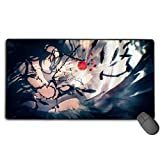 Overlord Japanese Animation Large Gaming Mouse Pad XXL Extended Mat Desk Pad Mousepad Long Non-Slip Rubber Mice Pads Stitched Edges 29.5