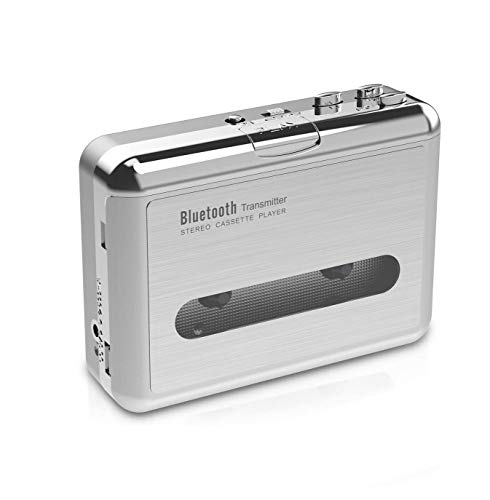 DIGITNOW! Reproductor de Casete Walkman con Bluetooth de Cinta de Casete, con Conector para Auriculares de 3.5 mm
