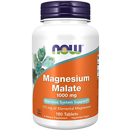 NOW Supplements, Magnesium Malate 1000 mg, 180...