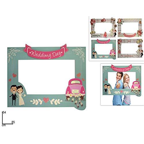 Aurora Store.it Cornice PhotoBooth Matrimonio Misura 54x85 cm Wedding Cornice Foto Selfie Nozze per Feste Addio Celibato Nubilato, sposi