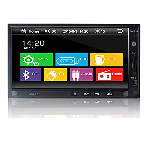 Radio de Coche Bluetooth 7 Pulgadas Doble DIN Car Stereo Mp5 Player 1080P Pantalla Táctil Pantalla Digital Soporte Multimedia RDS FM AUX USB SD