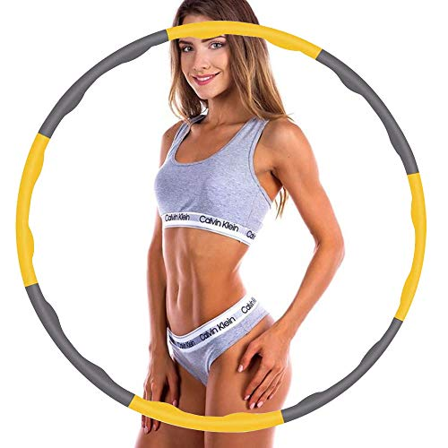 FUBA.VI Hula Hoop,Fitness Hula Hoop Aro para la pérdida de peso y masaje, se utiliza para hula hoop extraíble, adecuado para fitness, deporte, hogar, oficina, moldeación de abdomen.