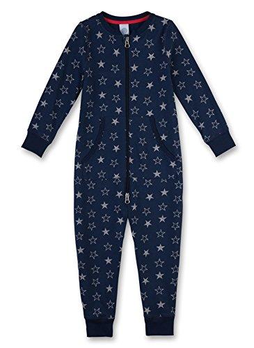 Sanetta Jungen 231994 Einteiliger Schlafanzug, Blau (Dark Blue 50244), 92