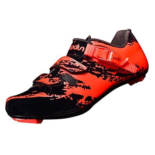MagiDeal Rennradschuhe Herren Damen Fahrradschuhe MTB Schuhe - Orange, 40