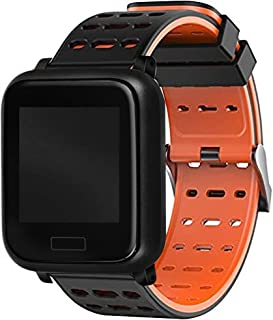Lamkei BOUNCEFIT QRB-1012 Men's Orange iOS/Android Smartwatch Tracker for Heart Rate, Steps, Message