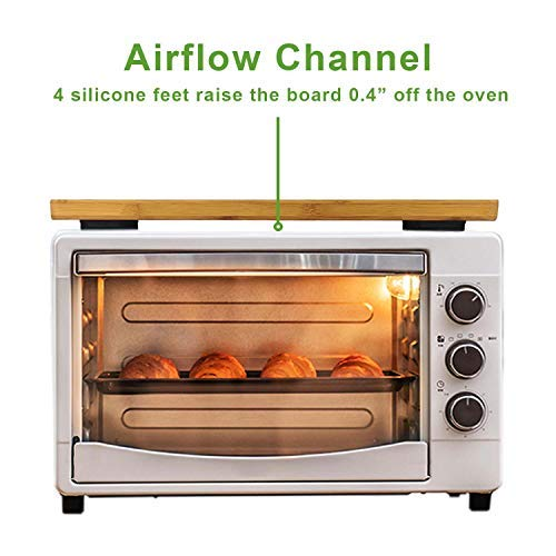 """Cutting board for Toaster Smart Oven Air, Compatible with Breville BOV900BSS, with Heat Resistant Silicone Feet, Creates Storage Room on Air Fryer and Protects Cabinets, 19.7x10.8"""""""