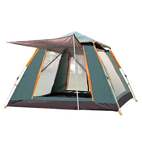 LJJLJJ Tente Popup, Piquets De Tente Portatifs Tipi, avec Capot De Protection Supérieur, 4 Personnes,Vert