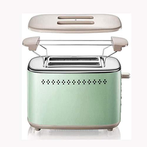 STRAW Inicio Desayuno tostadora eléctrica Tostador Mini automático 2 rebanadas de Pan Tostado Pop-up Fabricante de 6 etapas for Hornear