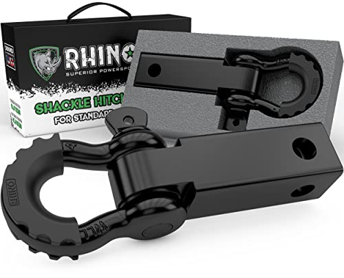 Rhino USA Shackle Hitch Receiver, Best Towing Accessories for Trucks & Jeeps,...