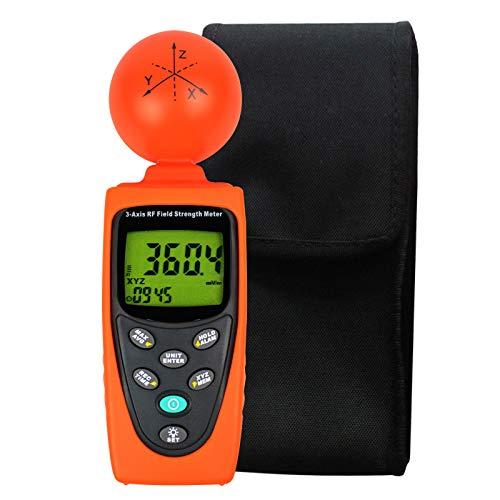 Verdreifachen Achse Radio Frequenz (RF) Digital Feld Stärke Meter EMF Strahlung Handys, Smart Meters, Zuhause Inspektionen 50MHz ~ 3.5GHz Frequenz Elektrosmog Leistung Meter Prüfer