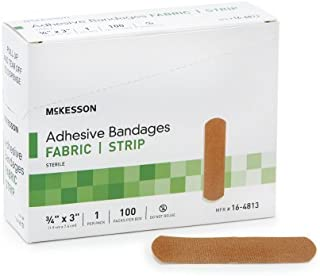 "Performance Bandage Adhesive Fabric Strip 3/4""X3"" Latex Free - Box of 100 (2)"