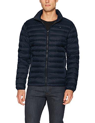 Calvin Klein Herren Daunenjacke, leicht, wasserabweisend, verstaubar - Blau - Large
