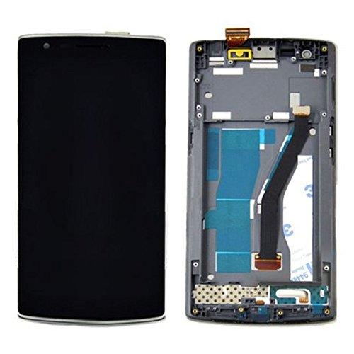 CHENYOUWEN Las Mejores Piezas de Repuesto Pantalla LCD + Panel táctil con reemplazo de Marco LCD Reparación LCD Rota for OnePlus One (Negro) (Color : Black)