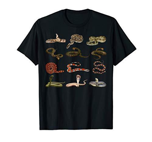 Verschiedene Schlangen Informatives Geschenk Für Kids Reptil T-Shirt