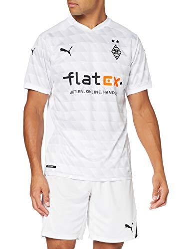 PUMA Herren T-Shirt BMG Home Shirt Repl. w.Sponsor, Puma White-Gray Violet, L, 924909