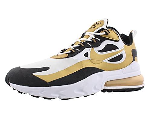 Nike Air Max 270 React Hombres, Blanco (Blanco/negro dorado metálico.), 43.5 EU