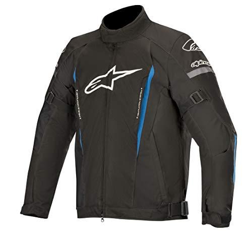 Alpinestars Chaqueta moto Gunner V2 Wp Jacket Black Bright Blue, Negro/Azul, XL