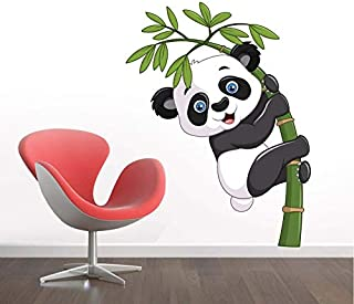 URBAN HUTCH Cute Baby Panda 3D Design Decorative Wall Sticker for Home | Living | Kids | Bedroom | Office Decor (Pack 1)