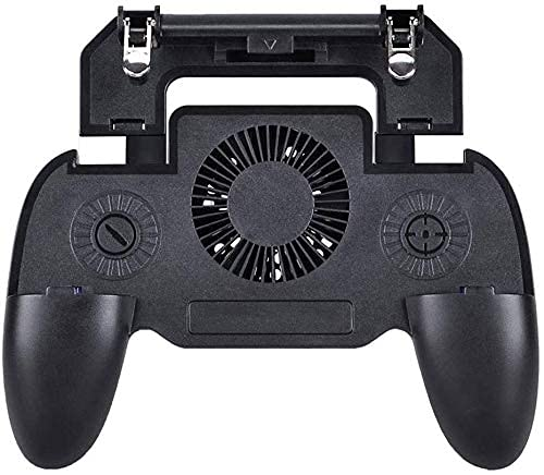 QIXIAOCYB Gamepad del Controlador de Juegos móvil con Banco de energía y Ventilador de refrigeración Disparador Objetivo botón L1R1 L2R2 Dispara Joystick for 4.7-6.5'Accesorios de teléfono Android