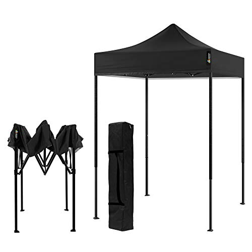 AMERICAN PHOENIX Canopy Tent 5x5 Pop Up Portable Tent Commercial Outdoor Beach Instant Sun Shelter (Black)