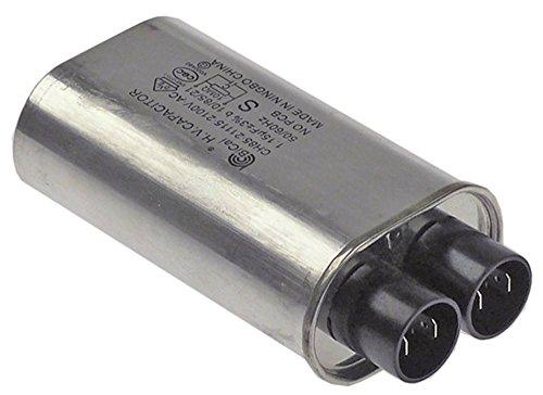 Horeca-Select HV-Kondensator CH85-21115 für Mikrowelle Anschluss Flachstecker 4,8mm Becherkondensator Breite 52mm 50/60Hz 1,15µF
