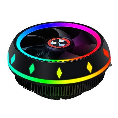 Outlet - Ordenador disipador de calor para CPU, enfriador de aire de procesador con ventiladores de RGB LED, para Intel y AMD Socket (LGA 115x / AM4 compatible)(color)