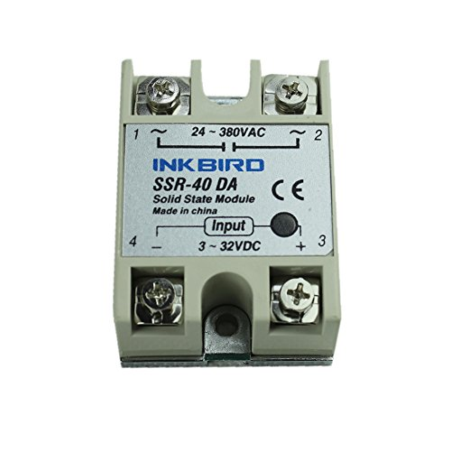 Inkbird F Display PID Temperature Controllers Thermostat ITC-106VH K Sensor Heat Sink and Solid State Relay 100 to 240V 40DA SSR Black Heat Sink K Probe