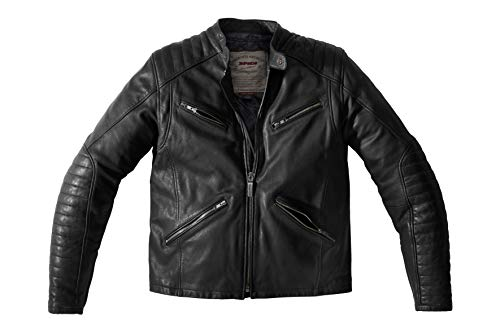 SPIDI Metal Leder Jacke, Schwarz, Größe 56