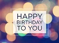 誕生日グリーティングカード–b1603。ビジネスグリーティングカードfeaturing a Happy誕生日メッセージon aマルチカラーライト背景。ボックスセットが25グリーティングカード、26明るいホワイト封筒。