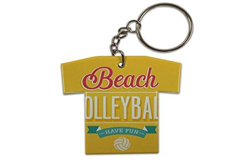LEotiE SINCE 2004 Schlüsselanhänger Fun Beach Volleyball Trikot bedruckt