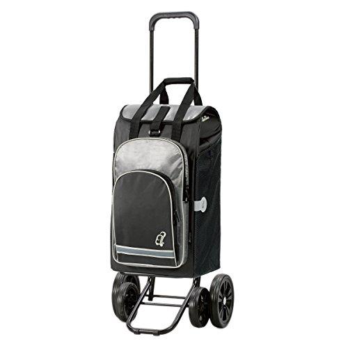 Andersen Shopper Quattro und 60 Liter Einkaufstasche Hydro schwarz mit Kühlfach