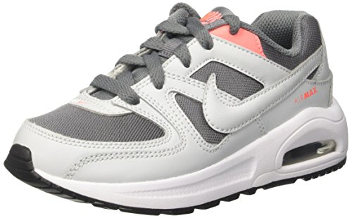 Nike Air Max Command Flex PS, Scarpe da Ginnastica Bambina, Grigio (Cool Grey/Pure Platinum/Lava Glow/White/Black), 35 EU