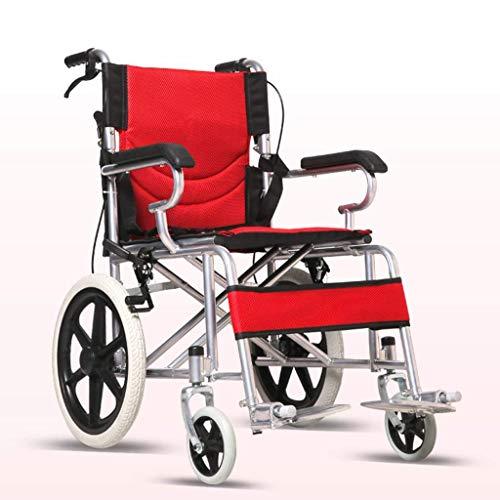 L-Y Ouderen Rolstoel Vouwen Lichtgewicht Kleine Ouderen Draagbare Ultra Licht Reizen Ouderen Gehandicapten Kleine Kruiwagen