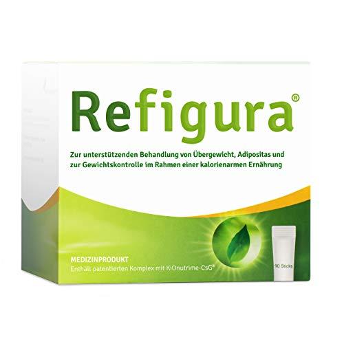 Refigura: Appetitzügler zum Abnehmen/zur Gewichtskontrolle, pflanzlich, vegan, Pulver als Sticks, 90 Stk.