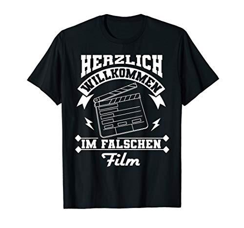 Herzlich Willkommen Im Falschen Film - Kino Theater Geschenk T-Shirt