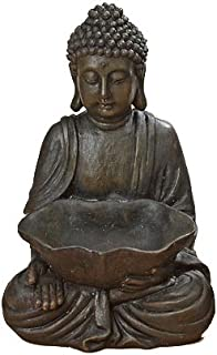 WHW Whole House Worlds Urban Zen Seated Buddha with Bowl, Open Hand, 11 7/8