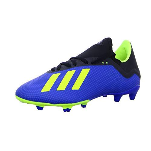 adidas X 18.3 FG, Zapatillas de Fútbol Hombre, Azul (Football Blue/Solar Yellow/Core Black), 40 EU