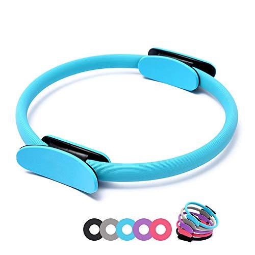 n.d. Anello Cerchio Pilates Sport Yoga Fitness Ginnastica Palestra Esercizi Interno Cosce Adduttori Addominali Donna Uomo Unisex 30 35 38 Cm (Celeste)