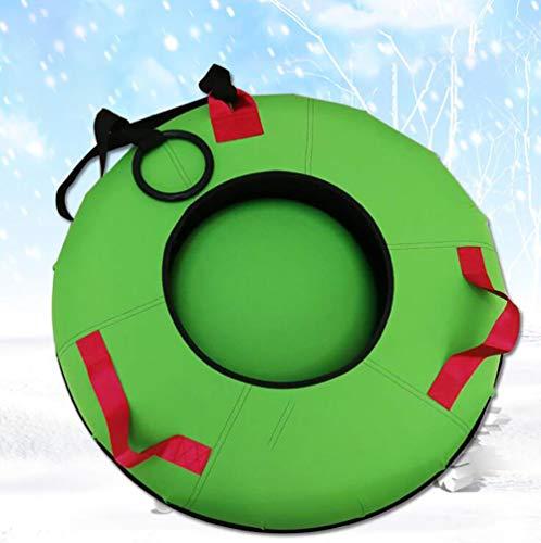 HZZD Schnee-Schlauch aufblasbare Schlitten Runde Thick PP Gummi Geeignet für Erwachsene Kinder Winterausrüstung Spielzeug für draußen,31in