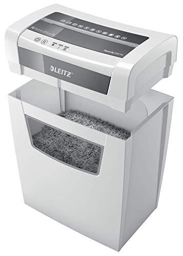Destructeur Coupe Croisée Leitz IQ Home Office, Jusqu'à 10 feuilles, Corbeille 23L, Blanc, 80090000