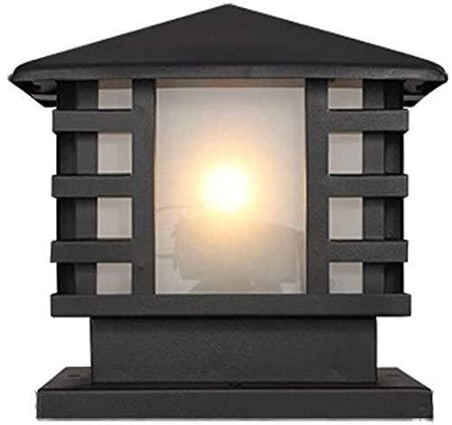 YMJ Luces De Poste E27 Luces De Césped De Paisaje Al Aire Libre Exterior De Jardín Lámpara De Columna De Aluminio Fundido A Presión A Prueba De Lluvia Entrada De Luz De Pilar De Carretera