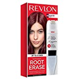 Revlon Root Erase Permanent Hair Color, At-Home Root Touchup Hair Dye with Applicator Brush for Multiple Use, 100% Gray Coverage, Burgundy (4B), 3.2 oz