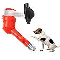 ペット用 自動給水器 ノズル ペット用給水器 犬 猫 小動物用 ボトル式自動給水器 約350〜500ml 全3色 - 赤