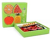 WINIAER Giochi da tavolo Cartone animato frutta 4pcs Filettatura Board Educational Early Giocattoli di legno Gioco per bambini Animali