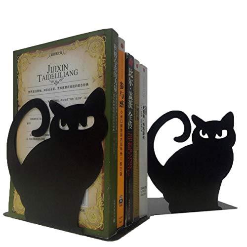 【 2個セット 】iikuru ブックスタンド 猫 おしゃれ 本立て ねこ かわいい ネコ ブックエンド 卓上 本 収納 y323