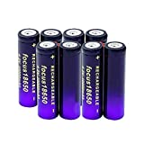 hsvgjsfa 8/16 Uds 18650 Batería Recargable De Iones De Litio 3,7 v 10000 Mah 18650 Batería De Litio para Faro Led Light Powerbank 8pcs