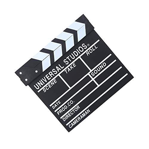 shunbang yuan Director Film-Schindel-Action-Szene Clapper Board Holz Movie Film Clap Slate, L, Schwarz