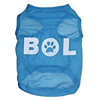 LNLW ポリエステルプリントシャツ中小犬用ペットベスト超薄型通気性犬Tシャツ服 (色 : As shown, サイズ : S)