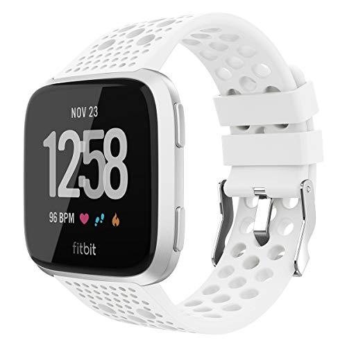 WASPO Kompatibel für Fitbit Versa Armband/Fitbit Versa 2 Armband, Atmungsaktive Ersatzbänder Sportuhrenarmband für Fitbit Versa/Versa Lite Edition/Versa Special Edition/Versa 2 Damen Herren