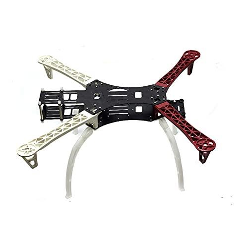 DingPeng Ingranaggio di atterraggio Nero e Rosso for Hj mwc x-modalità Alien 500mm Telaio Kit Cornice Drone Kit per FPV Racing Drone Quadcopter Accessori Ricambi (Color : with Landing Gear)
